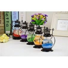 biZyug Gel Wax Decorative Lantern (Assorted Colour, Pack of 1)