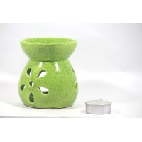 biZyug Ceramic Oil Burner with Tealight and 5ml Lemon Aroma Oil Gift Pack