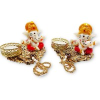 biZyug Ganesha Tealight (Pack of 2)