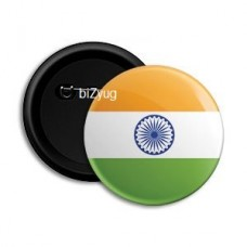 biZyug Indian Flag Round Pin Button Badge