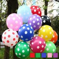 Polka Dot Printed Balloon ( Pack of 12 )