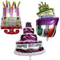 Birthday Cake Foil Balloon