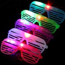 LED Flashing Glasses Light up Fashion Shutters Shape