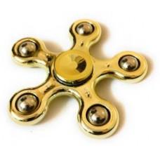 Fidget Spinner Metal Five Point Color Golden