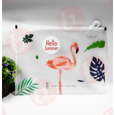 biZyug A4 File Folder with Zip Lock for Return Gift | Flamingo