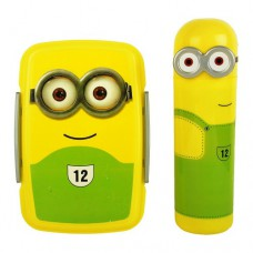 Minions Lunch Box & Minions pencil box with Stationary kit