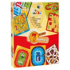 7 in 1 Games Ludo, Snakes & Ladders, Football, Cricket, Horse Race, Car Race