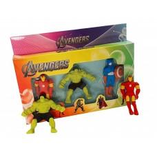 biZyug 3D Avenger Erasers for Kid Gift and Return Gift | Hulk | Captain America | Iron Man