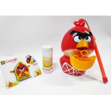 Angry Bird Kid Rakhi with Angry Bird Bubble Battery Operated Gift Combo