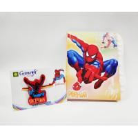 Spiderman Kid Rakhi with Spiderman Lock Diary Gift Combo