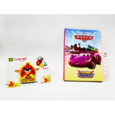 Angry Bird Kid Rakhi with Mcqueen Car Lock Diary Gift Combo